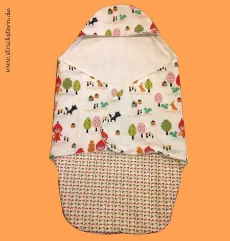 Einschlagdecke für die Babyschale - HANDMADE Kultur