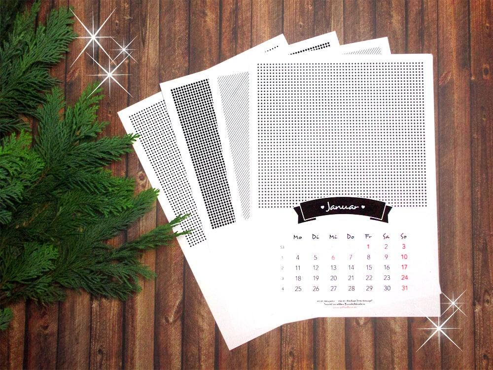 fotokalender 2016 zum ausdrucken handmade kultur. Black Bedroom Furniture Sets. Home Design Ideas