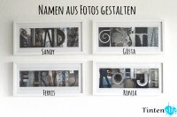 Geschenkidee - Namen aus Fotos gestalten