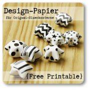 Design-Papier (nicht nur) für Origami-Glückssterne