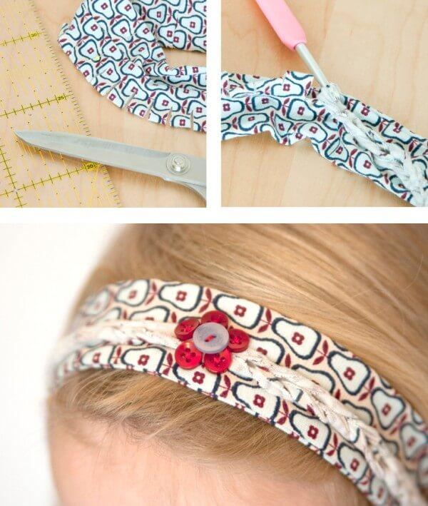 Haarband mit Flechtmuster nähen - HANDMADE Kultur