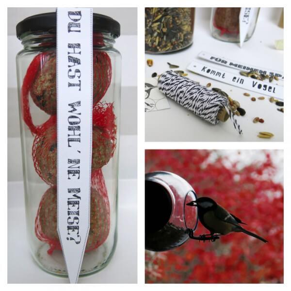 Geschenkidee: Vogelfutter freebie