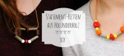 Statement Kette aus Holunderholz