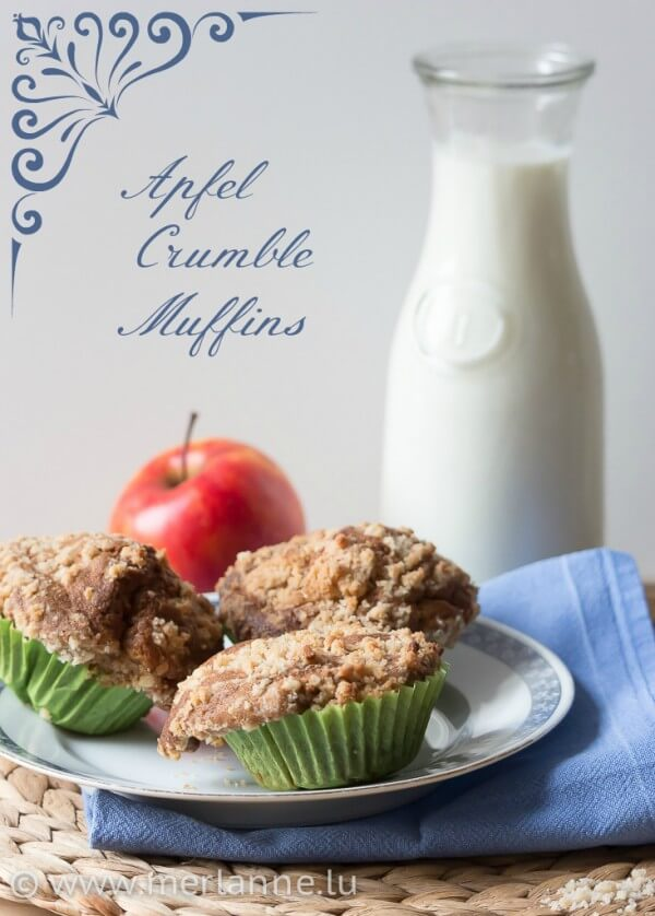 Apfel-Crumble-Muffins