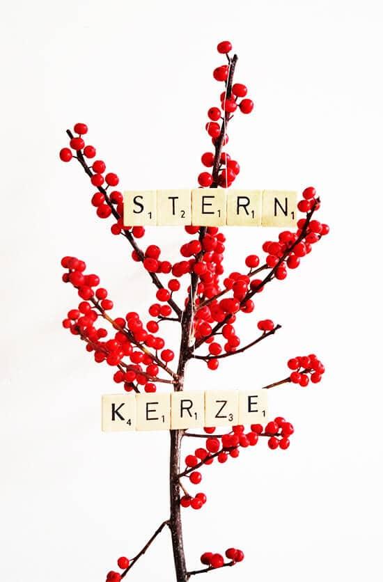 Scrabble Weihnachtsanhänger