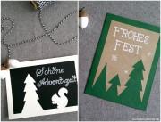 Weihnachtskarten mit Tannenbaum-Motiven