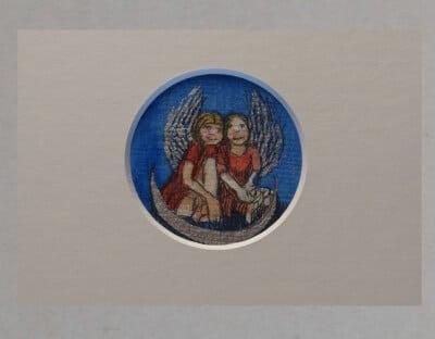 Schutzengel: Kunstdruck Unikat