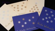 Schnelle Weihnachtskarte mit Eiskristall - Motivlocher