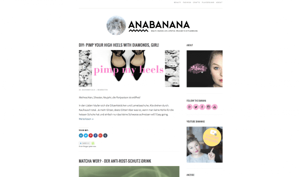 Anabanana Anastasia | beauty | fashion | DIY | lifestyle. welcome to my playground.