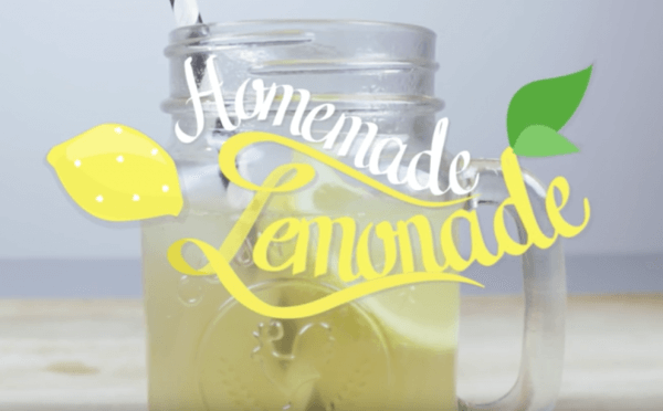 Limonade selber machen   Erfrischung für den Sommer mit nur 4 Zutaten