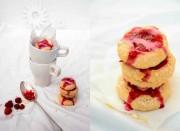 Himmlische Himbeerplätzchen mit weißer Schokolade - aus der Weihnachtsbäckerei