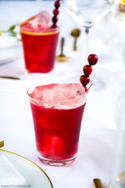 The red Queen Cranberry Beer Drink von den [Foodistas]