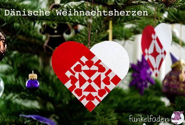 D 228 Nische Weihnachtsherzen Weben Handmade Kultur