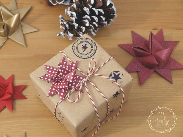 Fr belsterne als deko f r geschenke handmade kultur for Deko geschenke