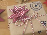 Fröbelsterne als Deko für Geschenke