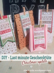 DIY - Last minute - Geschenktüte für Weihnachten