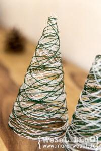Garn Weihnachtsbäume – DIY Weihnachtsdeko