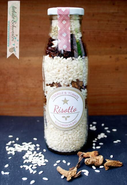 """Geschenktipp - Kochmischung im Glas """"Risotto"""" mit freebie"""