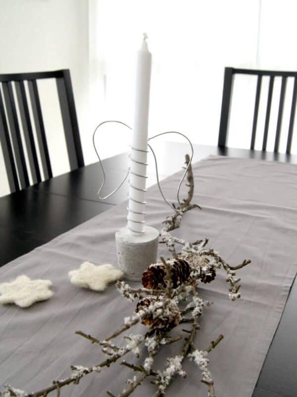 adventskerze mit beton und draht handmade kultur. Black Bedroom Furniture Sets. Home Design Ideas