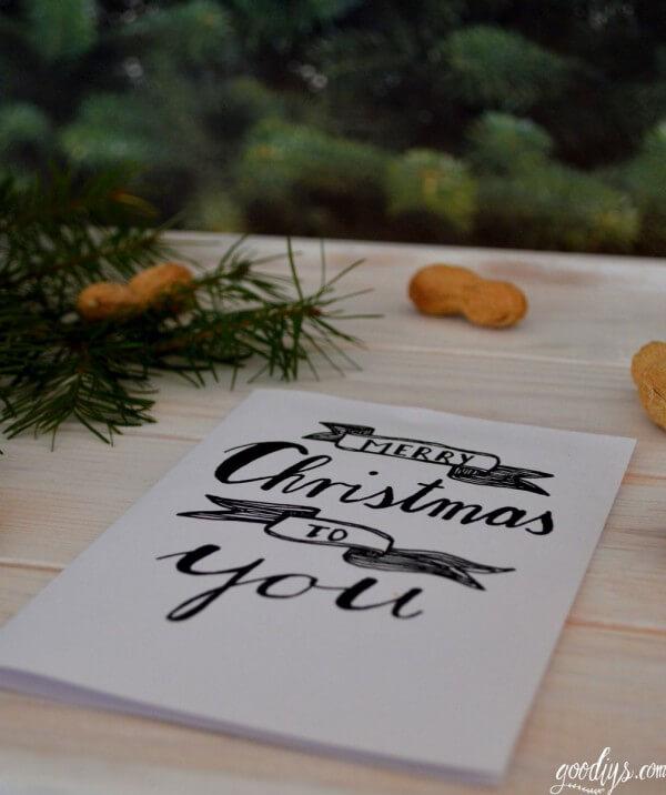Illustrierte Weihnachtskarte