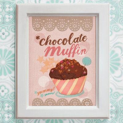CHOCOLATE MUFFIN / Print auf Leinenpapier / A4