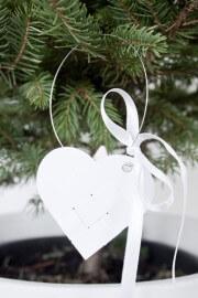 Flechtherzen für den Weihnachtsbaum
