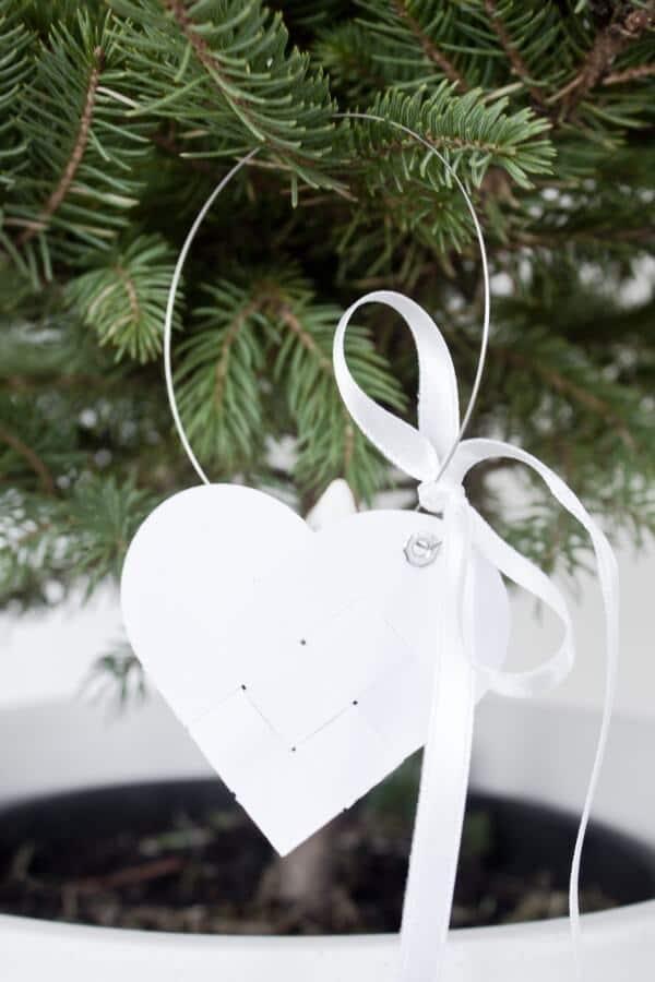Flechtherzen für den Weihnachtsbaum - HANDMADE Kultur