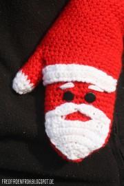 """Häkel-Anleitung """"Handschuhe á la Weihnachtsmann"""""""
