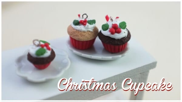 FIMO Christmas Cupcakes | polymerclay miniature art