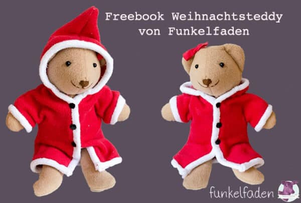 Nähanleitung - Weihnachtsteddybär - HANDMADE Kultur