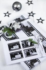 DIY: Weihnachtliches Geschenkpapier mit Filmmotiv + printable freebies
