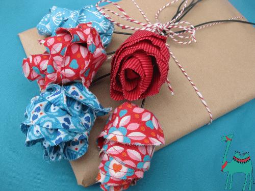 Geschenkeverpackung aufhübschen