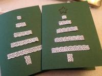 Weihnachtskarten mit Spitze