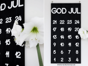 """DIY-Adventskalender Holzbrett """"God Jul"""""""