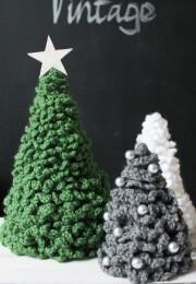 Weihnachtsdeko Häkel-Tannenbaum