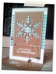Weihnachtskarte Schneeflocke