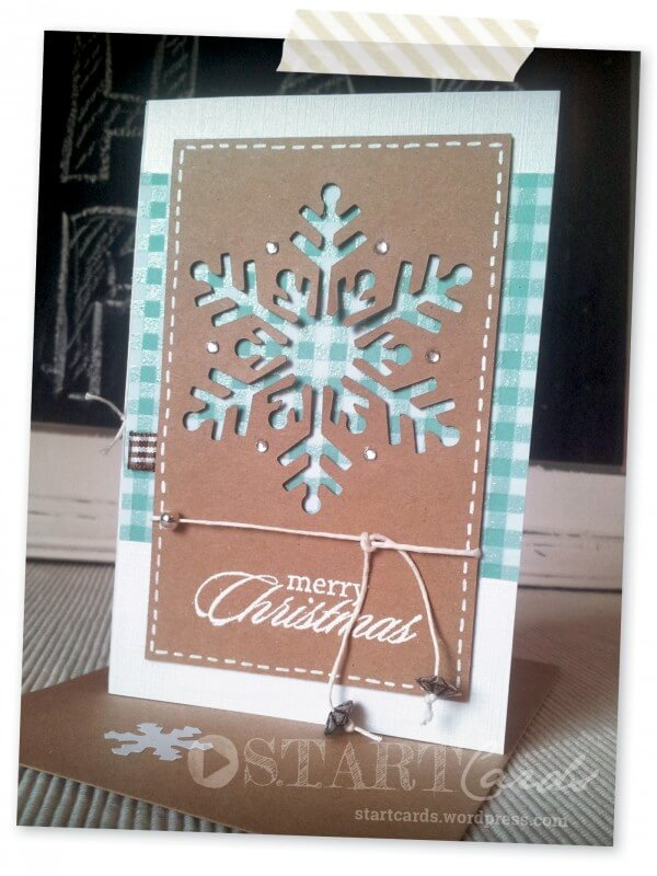 Weihnachtskarte schneeflocke handmade kultur for Weihnachtskarten basteln vorlagen kostenlos