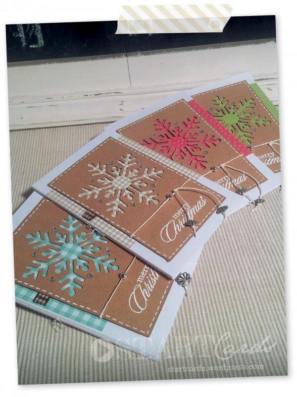 weihnachtskarte schneeflocke handmade kultur. Black Bedroom Furniture Sets. Home Design Ideas