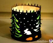 Freebie - Weihnachtliches Windlicht