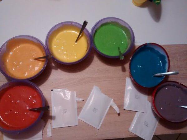Rezept: Papageien /Regenbogenkuchen – laktosefreie Version