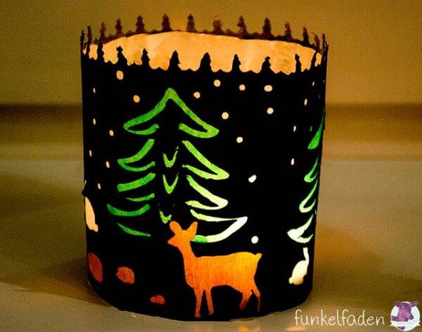 Weihnachtliches Windlicht