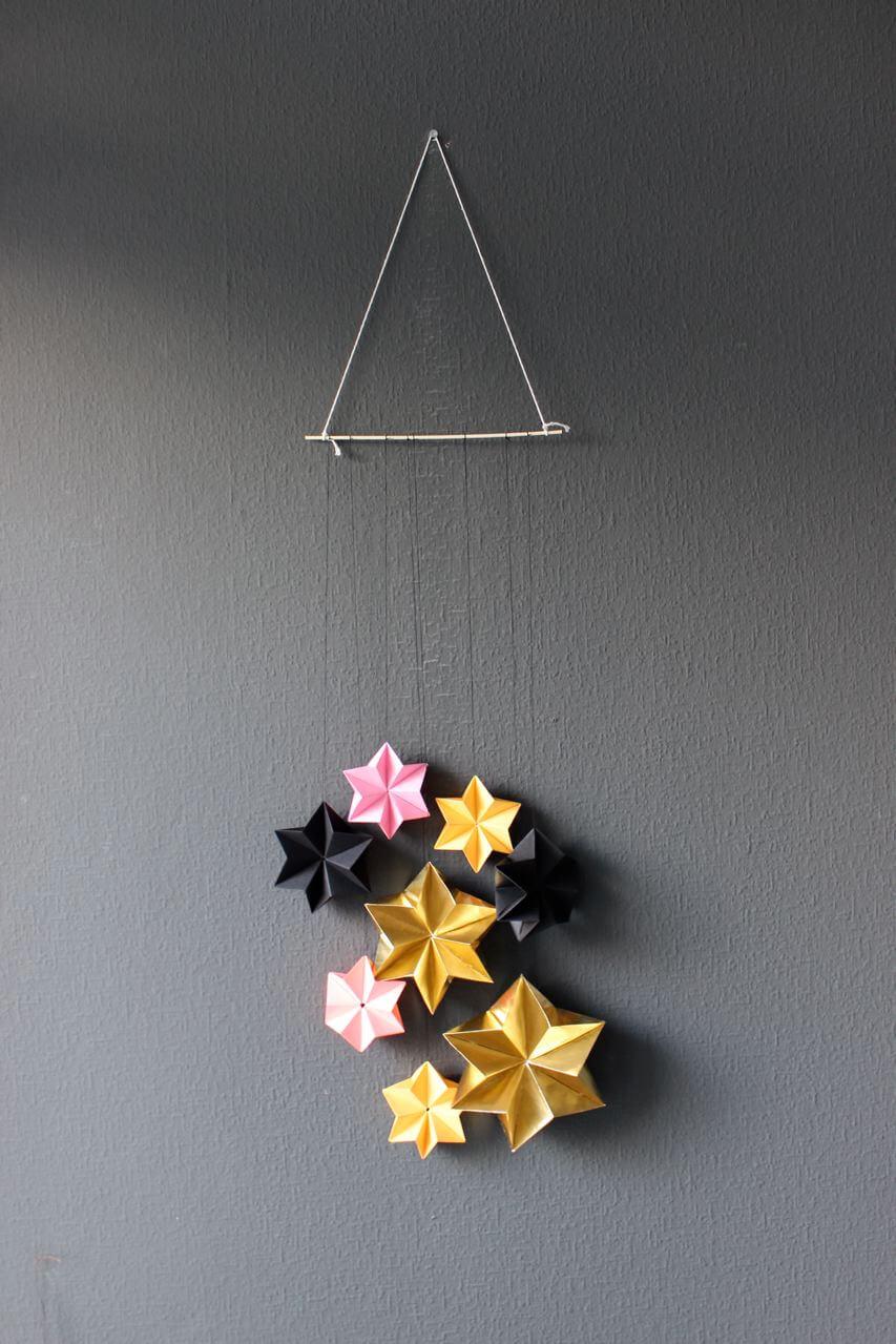 diy 3d sterne f r weihnachten handmade kultur. Black Bedroom Furniture Sets. Home Design Ideas
