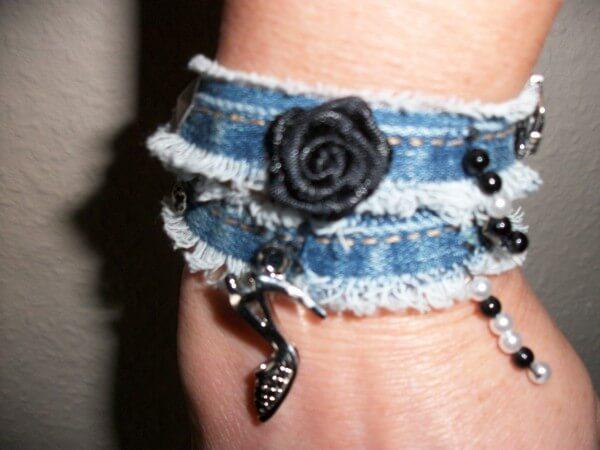 Armband aus Jeansnaht