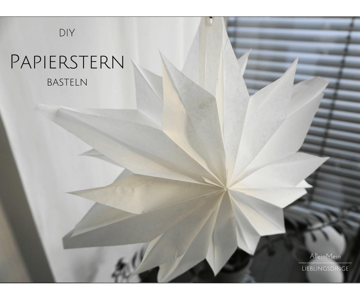 DIY PAPIERSTERNE AUS BUTTERBROT- PAPIERTÜTCHEN BASTELN