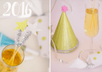 DIY Partydekorationen für Silvester
