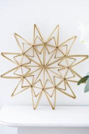 Weihnachts-Stern aus Trinkhalmen