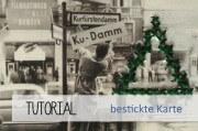 Bestickte Postkarte