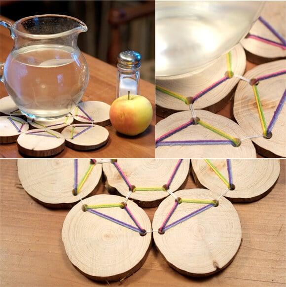 Untersetzer Aus Holzscheiben Handmade Kultur