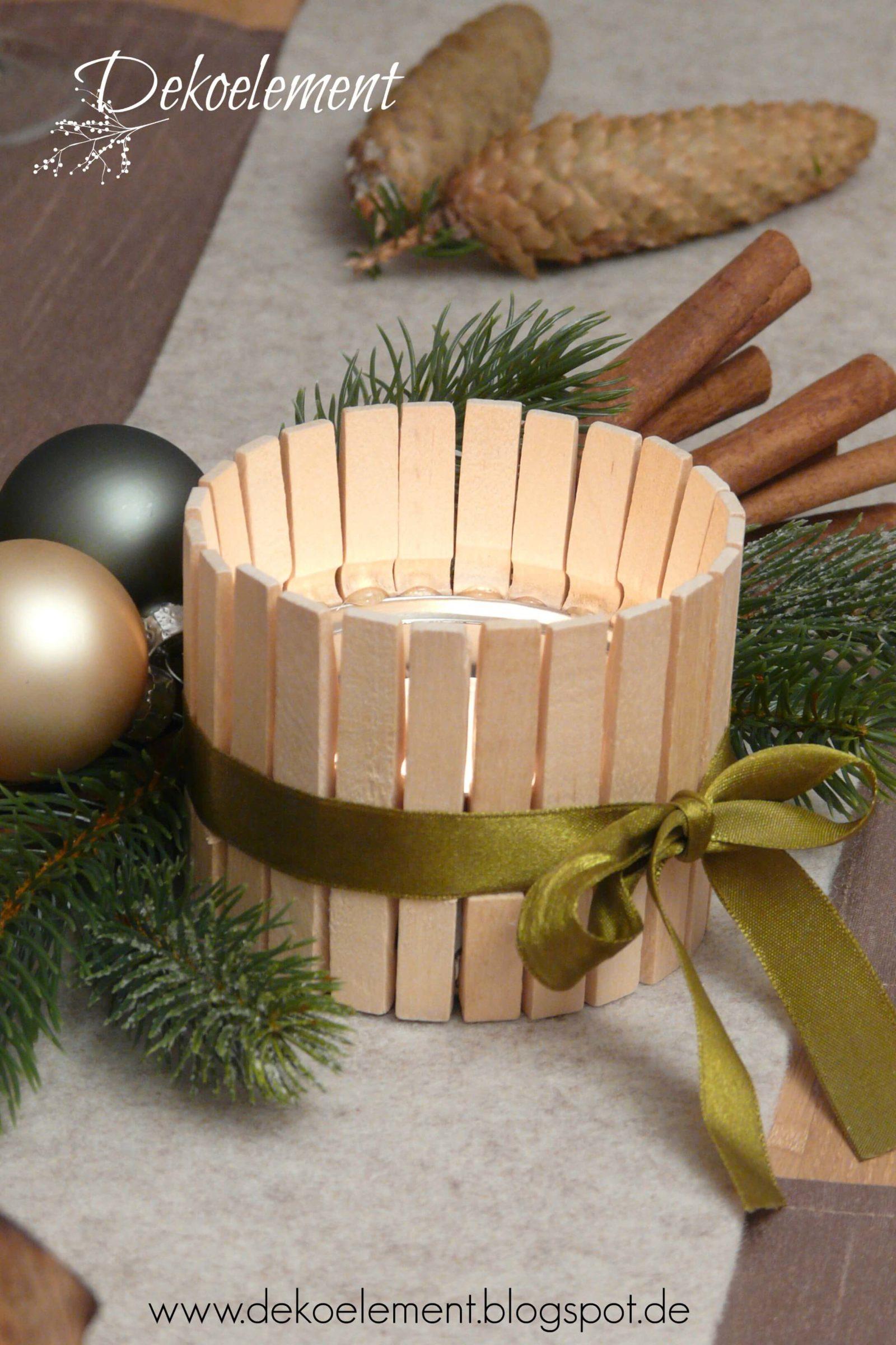 upcycling teelichthalter aus w scheklammern handmade kultur. Black Bedroom Furniture Sets. Home Design Ideas