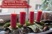 Upcycling  - Kerzen aus Wachsresten und Toilettenrollen